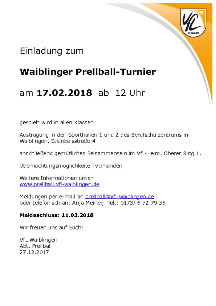 Waiblinger Einladung Turnier_2018